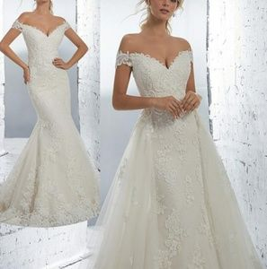 Two in one bridal gown